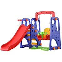 XIANGYU outdoor garden children plastic slide and swing toys