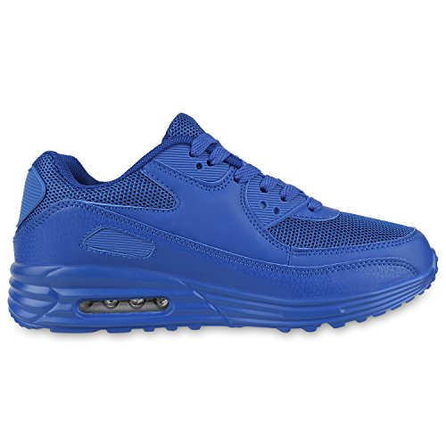 Damen Herren Unisex Sportschuhe Profil Sohle Laufschuhe Fitness Runners Blau