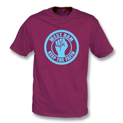 West Ham halten das Glauben-T-Shirt Kastanienbraun