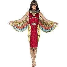 Smiffy's - Disfraz de diosa egipcia, color rojo (43734S)