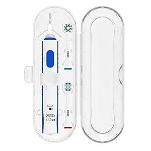 Poketech casi di viaggio per Oral-B 1 manipolo e 2 pennello Premium - Trasparente