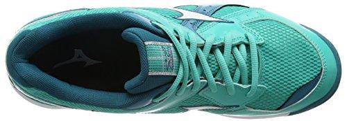 Mizuno Wave Twister 4 Scarpe Pallavolo, Donna Verde (Green (Atlantis/White/Harbor Blue))
