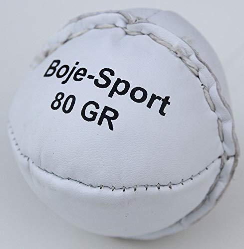 Boje Sport® Schlagball aus Leder 80 g, Farbe: weiß