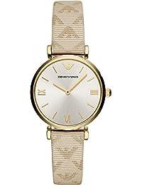 c29e1f93e7ab Emporio Armani Reloj Analógico para Mujer de Cuarzo con Correa en Cuero  AR11127
