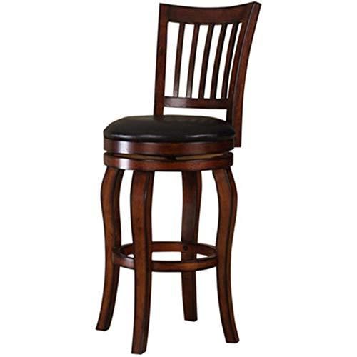 Xuanbao-F Barhocker Einstellbare Vintage Holz Retro Runde Leder Sitz Barhocker Hohe Bein Elegant Swivel Für Frühstück Bar Hocker Küchentheke Bar Stühle Frühstück Esszimmerhocker -
