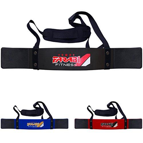 Farabi Fitness Weightlifting Arm Blaster Biceps Isolator Gym Support Straps Wraps (Black)