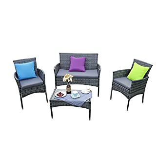 41kxvI4gtAL. SS324  - Yakoe Eton Range Outdoor rattan Garden Furniture sofa set