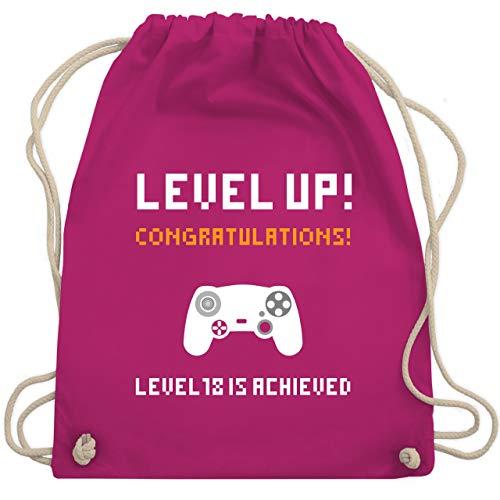 urtstag - Gamer Level 18 - Unisize - Fuchsia - WM110 - Turnbeutel & Gym Bag ()