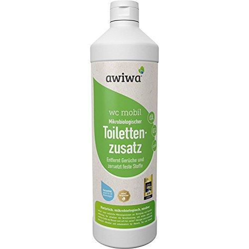 awiwa® WC Mobil Sanitärflüssigkeit für Campingtoilette und Chemie WC I Bio Toilettenzusatz für Wohnmobil, Wohnwagen & Camping, 1 Liter Konzentrat (Chemie-wc)
