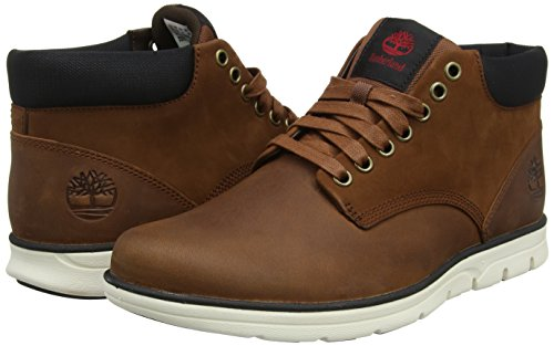 Timberland Bradstreet Leather Sensorflex, Stivali Chukka Uomo, Marrone (Red Brown FG), 43.5 EU