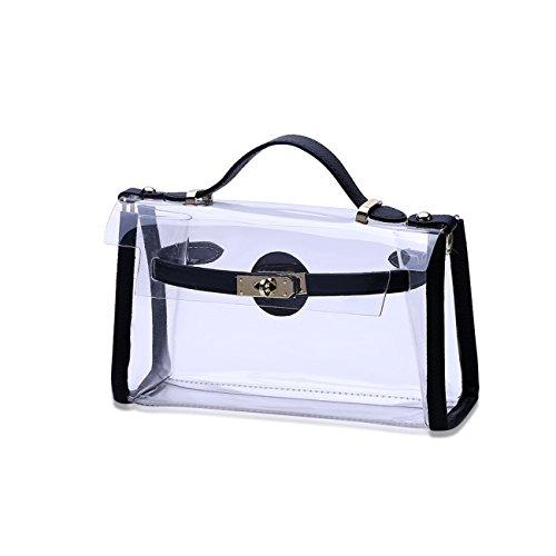 THEE Damen Handtasche Umhängetasche Tote Transparente Taschen