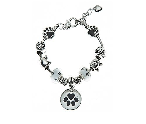Pulsera de gato, gato joyería Jewelry- de huellas de, Cat Lovers bracelet-cat propietario pulsera-regalo perfecto para los amantes del gato
