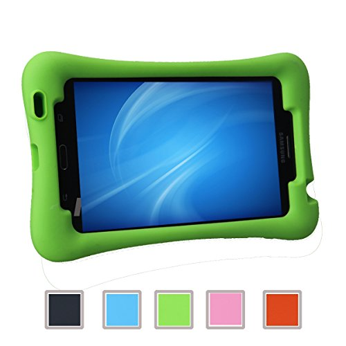 NEWSTYLE Samsung Galaxy Tab 4 7.0 Kinderfreundliche Silikon Hülle Schutzhülle Tasche Case für Samsung Tab 4 SM-T230 / T231 / T235 (7 Zoll) - Grün