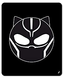 1art1 Black Panther - Emoticon Mauspad 23 x 19 cm
