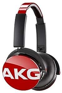 AKG Y50 Cuffie Portatili Pieghevoli con Cavo Rimovibile, Controllo Remoto Volume/Microfono, Compatibili con Dispositivi Apple iOS e Android, Rosso