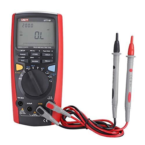 Multimetro Digitale, UNI-T Misuratore di Tensione Corrente Conteggi Amperometro Digitale LCD a 5 Cifre a 199999 Professionale Ohmmetro Voltmetr Tester di Temperatura AC/DC(UT71B)