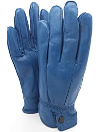 QUALITY SOFT BLUE LEATHER GLOVES