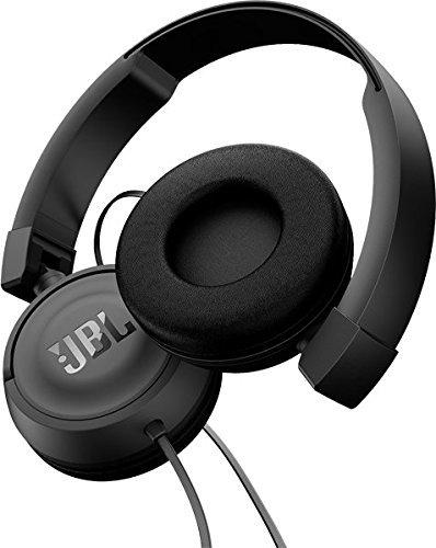JBL T450 On-Ear Kopfhörer in Schwarz – Ohraufliegende, kabelgebundene Ohrhörer mit 1-Tasten-Fernbedienung und integriertem Mikrofon – Musik hören und Telefonieren unterwegs - 3