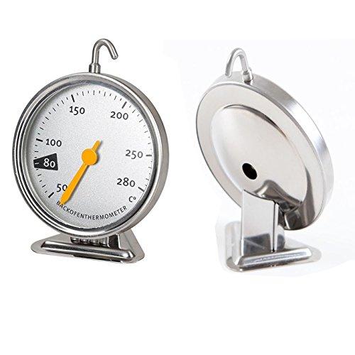 Backofenthermometer Edelstahl Ofen Thermometer Küche Backen Werkzeug Ofenthermometer 50-280 Grad 90x70x19 mm