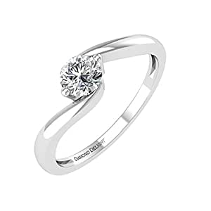 Diamond Delight   18 carats  Or blanc Rond   G-H Diamant blanc