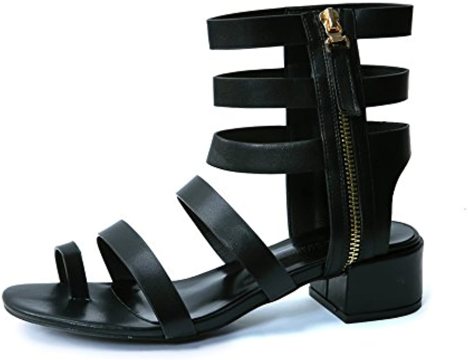 LGK&FA Female Fashion Toes with Sandals and High Heels Thirty-Four Black