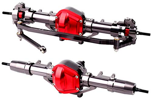 ARUNDEL SERVICES EU CNC Metall Vorder- und Hinterachse für 1:10 RC Rock Crawler Car Axial SCX10 RC Crawler Achse SCX10-Achsen Fahrgestellteile
