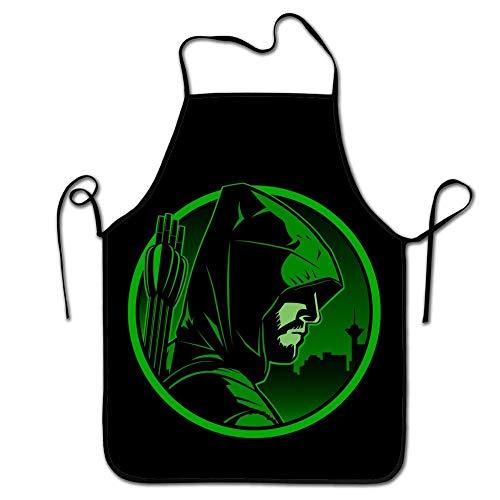 Jhonangel Mode-Design Green Arrow Küchenschürze, verstellbare Bequeme Kochschürzen zum Grillen, ohne Taschen (Green Arrow Kostüm Design)