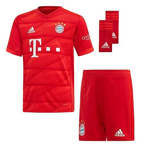 adidas Performance Kinder Fußball-Set Trikot, Shorts und Socken FC Bayern München Mini-Heimausrüstung - Replica rot (500) 116 -