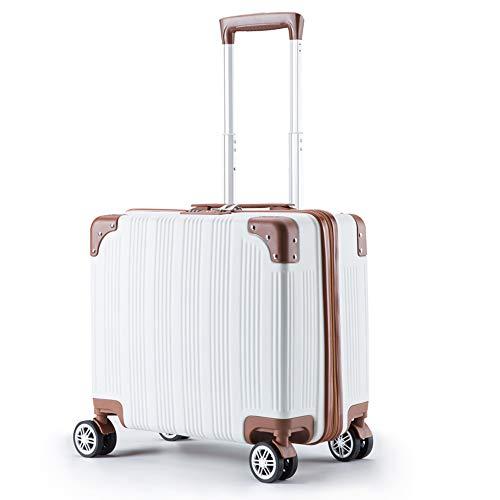"""DS-Carrello Trolley Case - 18"""", ABS Box Face, Mini Boarding Case, Leva in Lega di Alluminio, Angolo Anti-collisione, Caster Silenzioso, Adatto per Viaggi d'Affari a Breve Distanza, 5 Colori disponibi"""
