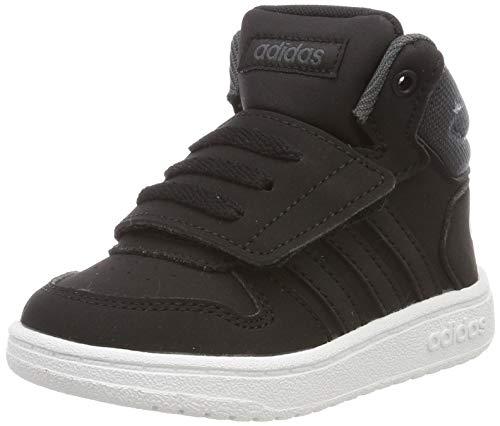 adidas Unisex Baby Hoops MID 2.0 I Sneaker Schwarz Core Black/Grey 0, 23 EU