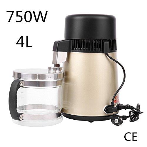 Iglobalbuy Distillateur D'eau 4L 750W Professionnel Purificateur en Acier Inoxydable Filtre avec...