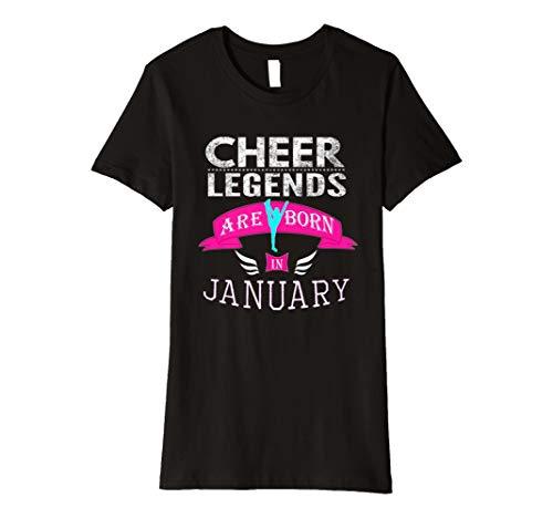 Top Girls Cheer führenden Legends Born Januar Geschenk T-Shirt