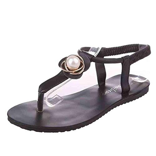 Mulheres Webla Sapatos Rasos Bohemia Sandálias Lazer Senhora Peep-toe Ao Ar Livre Sapatos Rasos Deslizamento-em Apartamentos Confortáveis preto