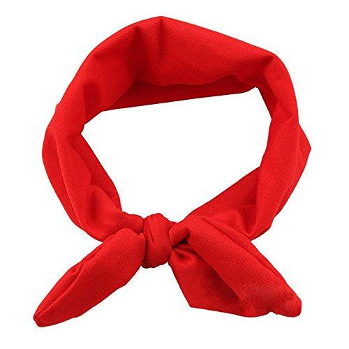 TOOGOO(R)Rot kleines Maedchen Stirnband Kleinkind Kopfschmuck Kind elastisch Haarband