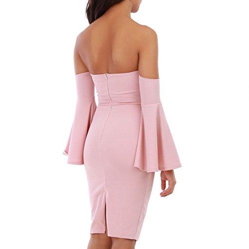 La Modeuse - Robe courte à épaules dénudées Rose