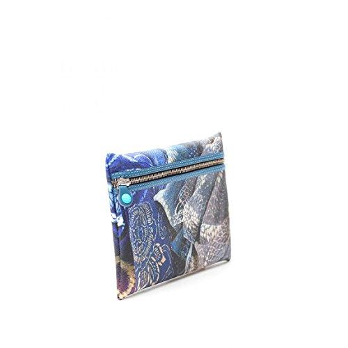 Pochette Gabs In Ecopelle Stampata Indaco