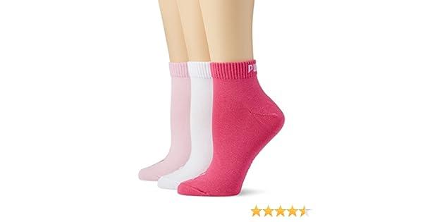 Details zu PUMA Sneaker Quarter Socken Füßling Kurzsocke 3 Paar UNISEX pink rosa weiß (422)