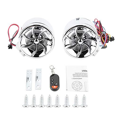 EBTOOLS Motorrad ATV Alarm Audio Sound System Stereo Lautsprecher Radio MP3 Musik Player ATV Fernbedienung Alarm Lautsprecher Roller(plating) -