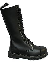 Calzature & Accessori militari neri con punta rotonda per donna Grinders