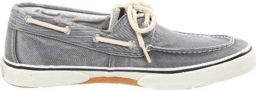 Halyard 2 Eye Boat Shoe -Mens Canvas Navy/Honey Grey