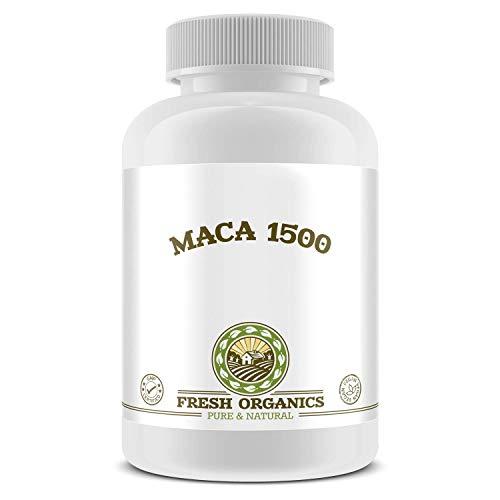 Original MACA-1500 (Maca-Wurzel) | 100 Tabletten für 33 Tage | Vegan | Muskelaufbau, Vitalität, Wohlbefinden, Testosteron & Hormonelle Balance | Premium Qualität -