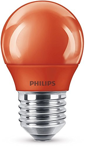 Philips LED Lampe, E27, Partylicht, rot, ideal zur Partybeleuchtung, Tropfen
