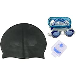 JERN Complete Swimming Kit with Cap, goggles and earplugs