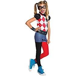 Rubie's'DC Super Hero HarleyQuinn' –Disfraz oficial para niña, talla: S (pequeña)