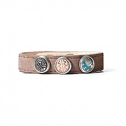 Noosa petite bracelet wrap classic skinny brown, Caps/ Mützen:M