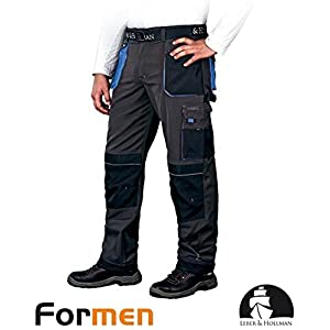 Leber&Hollman LH-FMN-T_SBN46 – Pantalones protectores (talla 46), color gris, negro y azul