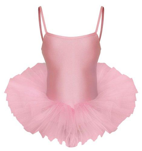 Dance Kostüm Childrens Tap - Katz Dancewear Damen Mädchen Kostüm mit Tutu Blassrosa Age 7-8 Years Euro 8
