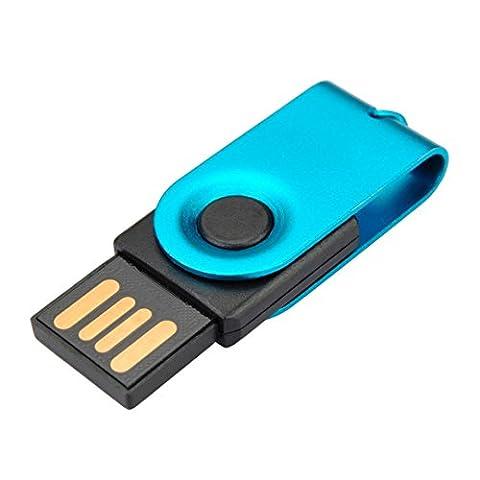 Baishitop 32Go les lecteurs Flash USB 2.0Mini disque résistant à l'eau U en bleu