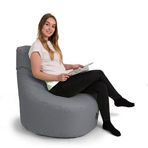 BuBiBag Gamer Kissen Lounge Sitzsack Sessel original Sitzkissen In & Outdoor geeignet fertig befüllt in 31 Farben