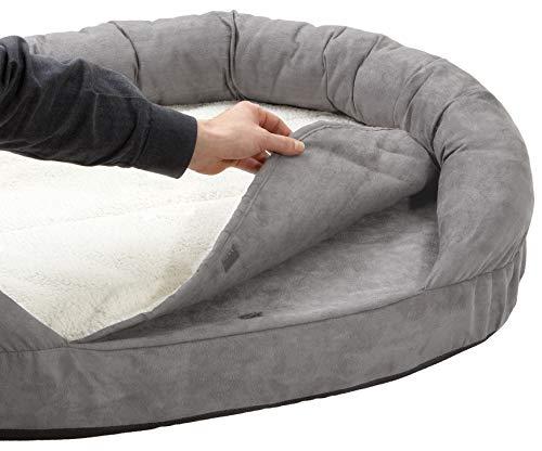 Karlie Hundebett Ortho Bed Oval, grau, 118 x 72 x 24 cm - 2